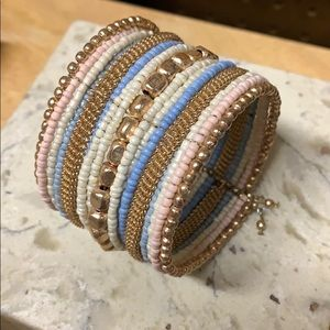 Multi-layered Beaded Cuff Bracelet!